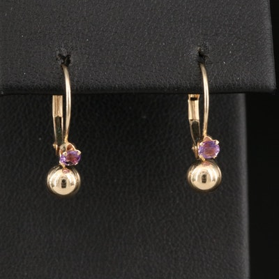 14K Amethyst Earrings