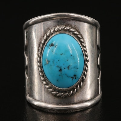 Southwestern Style Sterling Turquoise Ring