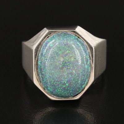 14K Opal in Matrix Ring