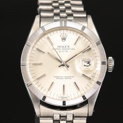 1969 Rolex Date Model 1501 Stainless Steel Wristwatch
