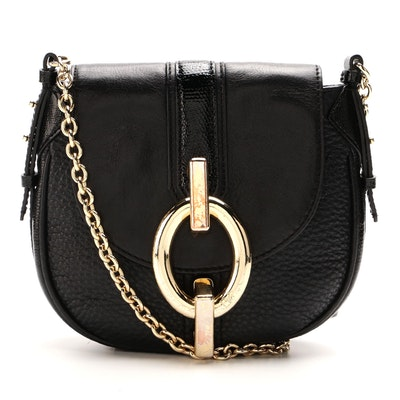 Diane von Furstenberg Sutra Mini Crossbody Bag in Black Leather