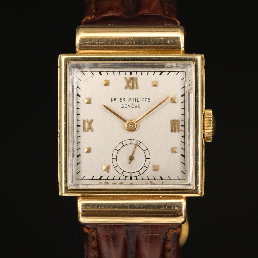 18K Patek Philippe Manual Wind Wristwatch
