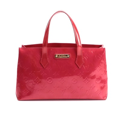 Louis Vuitton Wilshire PM Bag in Rose Pop Monogram Vernis Leather