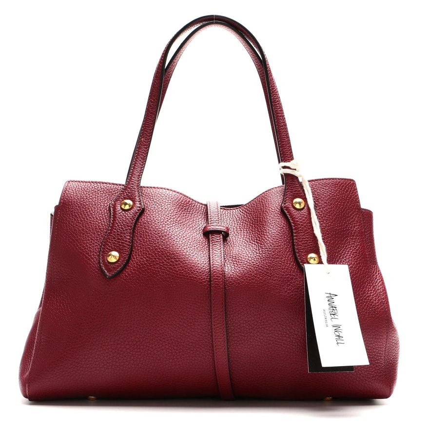 Annabel Ingall Billy Satchel in Barberry Pebbled Leather