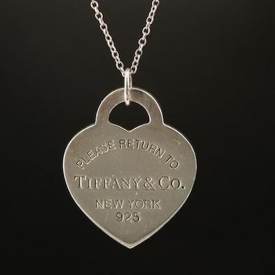 """Tiffany & Co. """"Return to Tiffany & Co."""" Heart Pendant Necklace"""