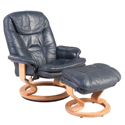Palliser Furniture Leather-Touch Swivel Recliner and Ottoman