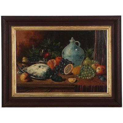 D. Vaas Still Life Oil Painting, Mid-20th Century