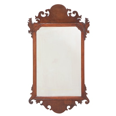 Chippendale Style Mahogany Mirror, Antique