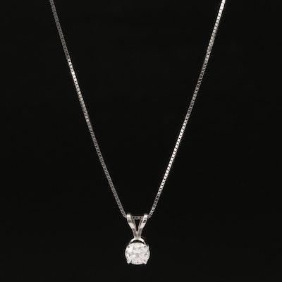 14K 0.68 CT Diamond Solitaire Necklace