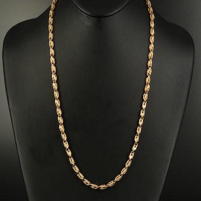14K Fancy Link Necklace