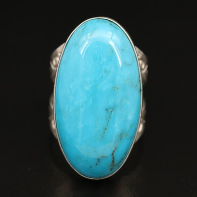 Desert Rose Trading Co. Sterling Silver Turquoise Ring