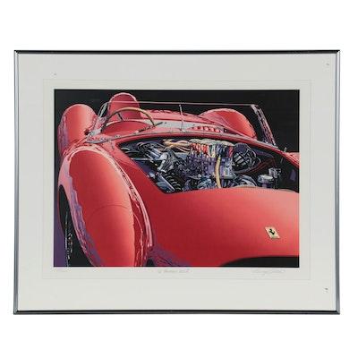 "Randy Owens Offset Lithograph ""'75 Ferrari 345 L.,"" Late 20th Century"