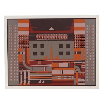 "Rick Tunkel Serigraph ""Modern Machine,"" 1981"