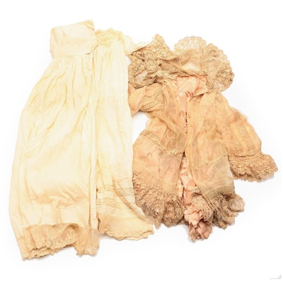 Children's Antique Silk and Lace Clothing