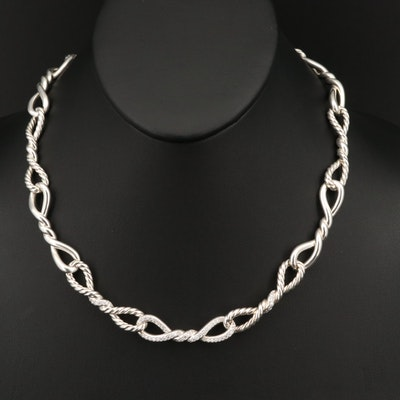 "David Yurman ""Continuance"" Sterling 1.10 CTW Diamond Necklace"