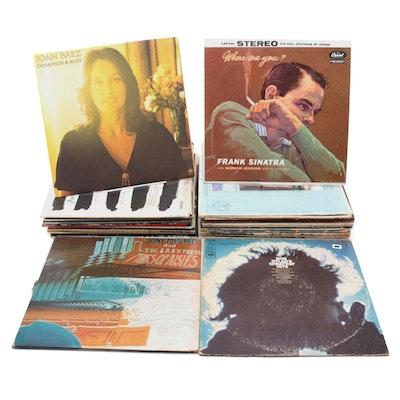Joni Mitchell, Bob Dylan, Joan Baez, Frank Sinatra and Other Vinyl LP Records