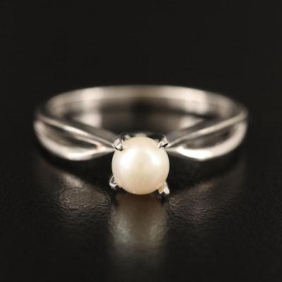 18K Pearl Ring
