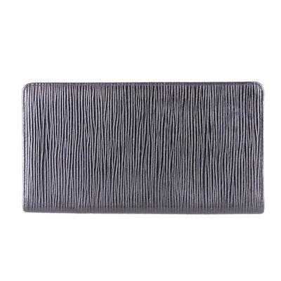 Louis Vuitton Porte-Cartes Crédit Yen in Black Epi Leather