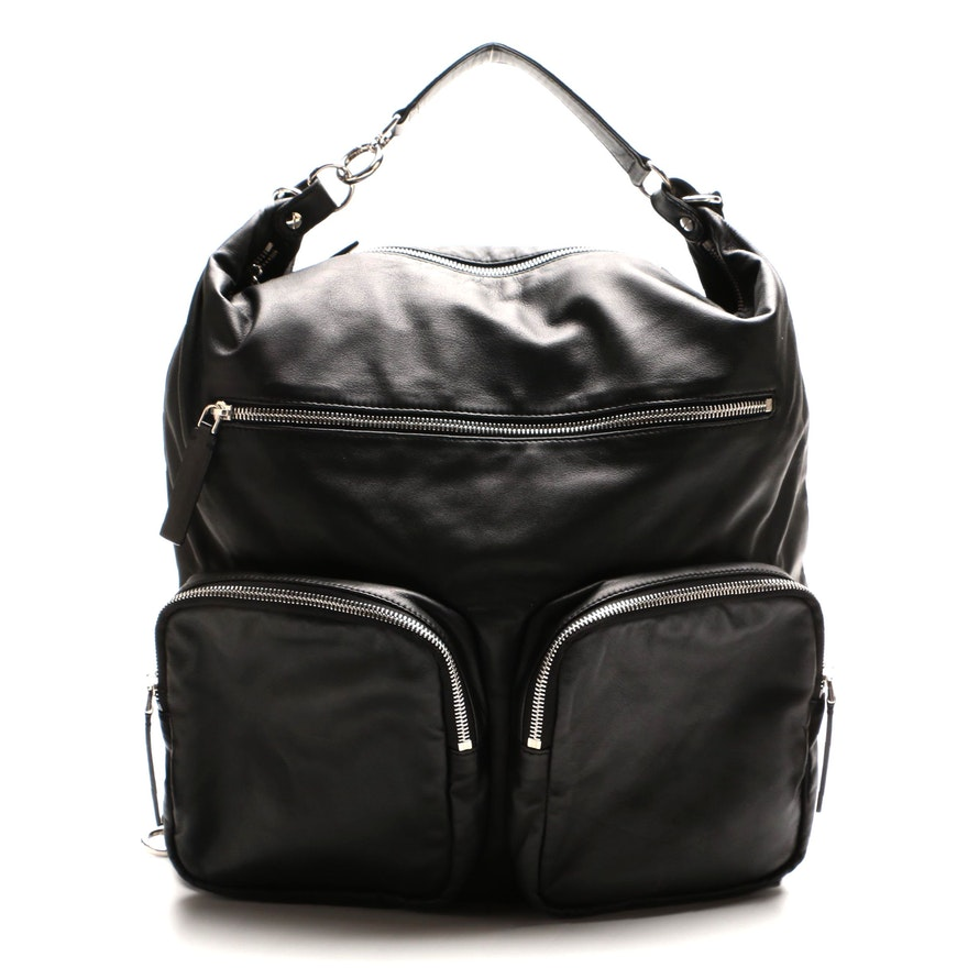 Marni Convertible Backpack in Black Nappa Leather