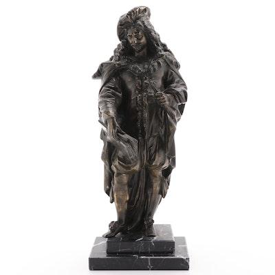Brass Sculpture of Rembrandt, Mid-20th Century