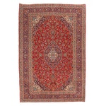 9'5 x 14'2 Hand-Knotted Persian Kashan Room Sized Rug, 1970s