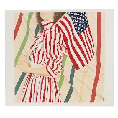 "Robert Anderson Color Lithograph ""Stars and Stripes,"" circa 1977"
