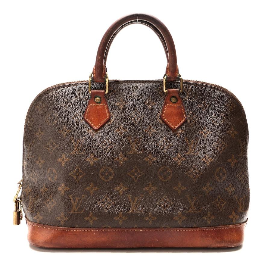 Louis Vuitton Alma PM Top Handle Bag in Monogram Canvas