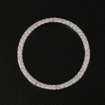 18K Diamond Circle Ring