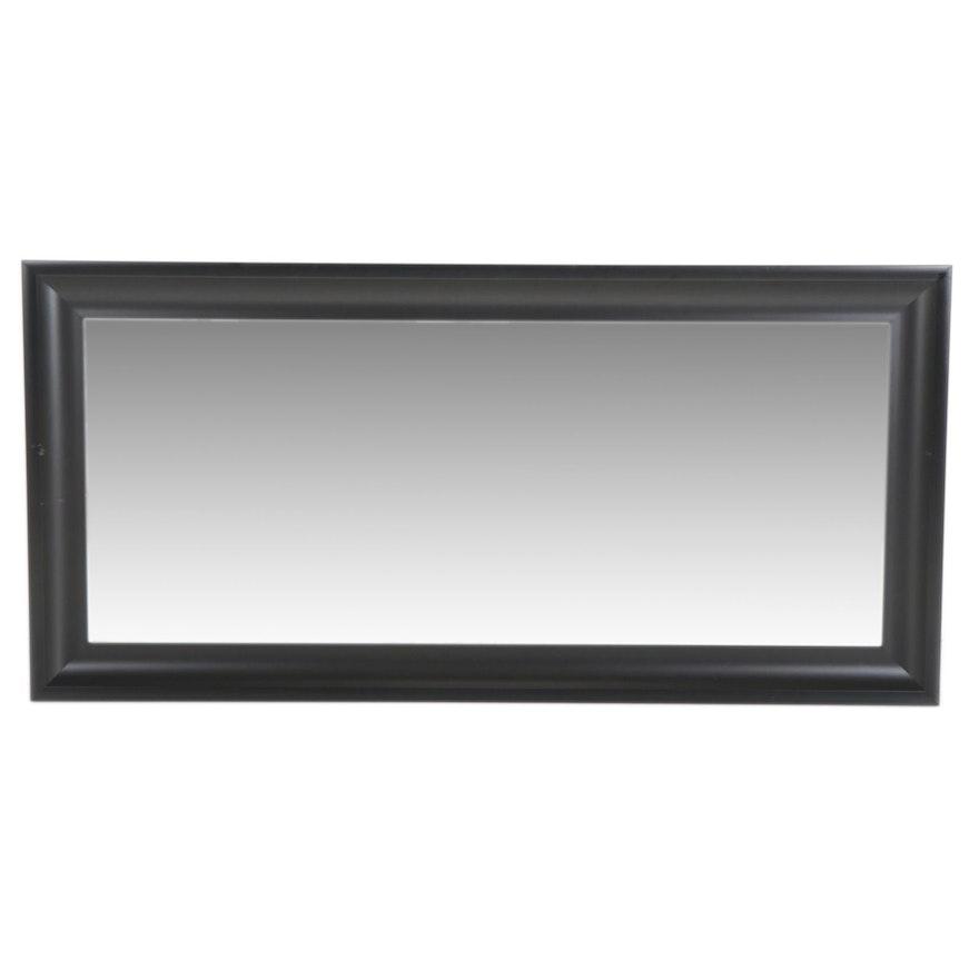 Rectangular Beveled Glass Wall Mirror, Contemporary