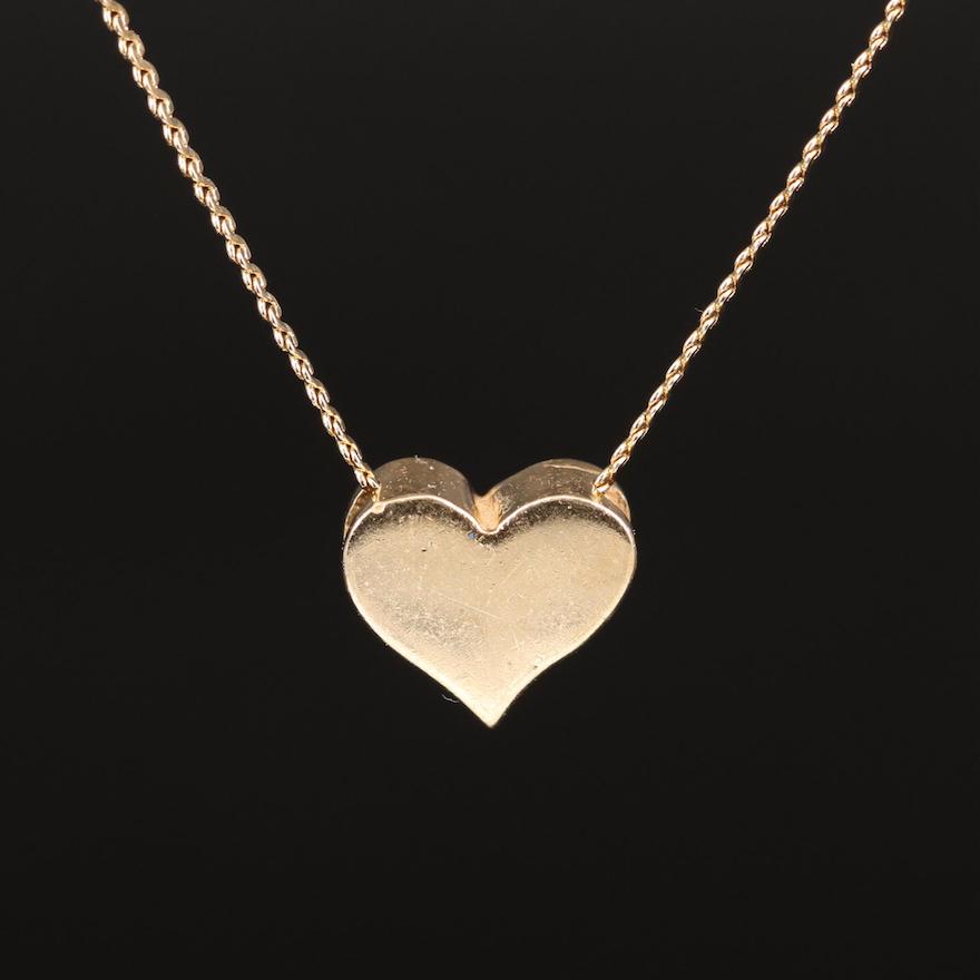 14K Heart Pendant Necklace