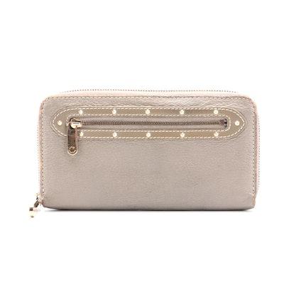 Louis Vuitton Suhali Zippy Studded Leather Wallet