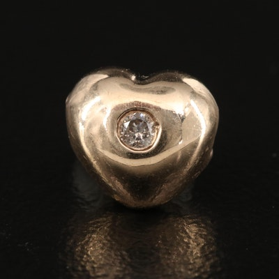 10K Diamond Heart Pendant Slide