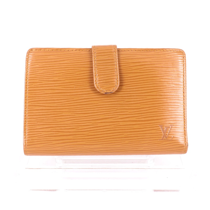 Louis Vuitton Porte-Monnaie Viennois Wallet in Cipango Gold Epi Leather