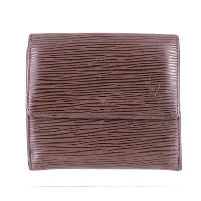 Louis Vuitton Elise Wallet in Moka Epi Leather