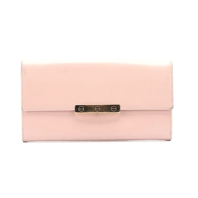 Cartier Blush Pink Patent Leather Wallet