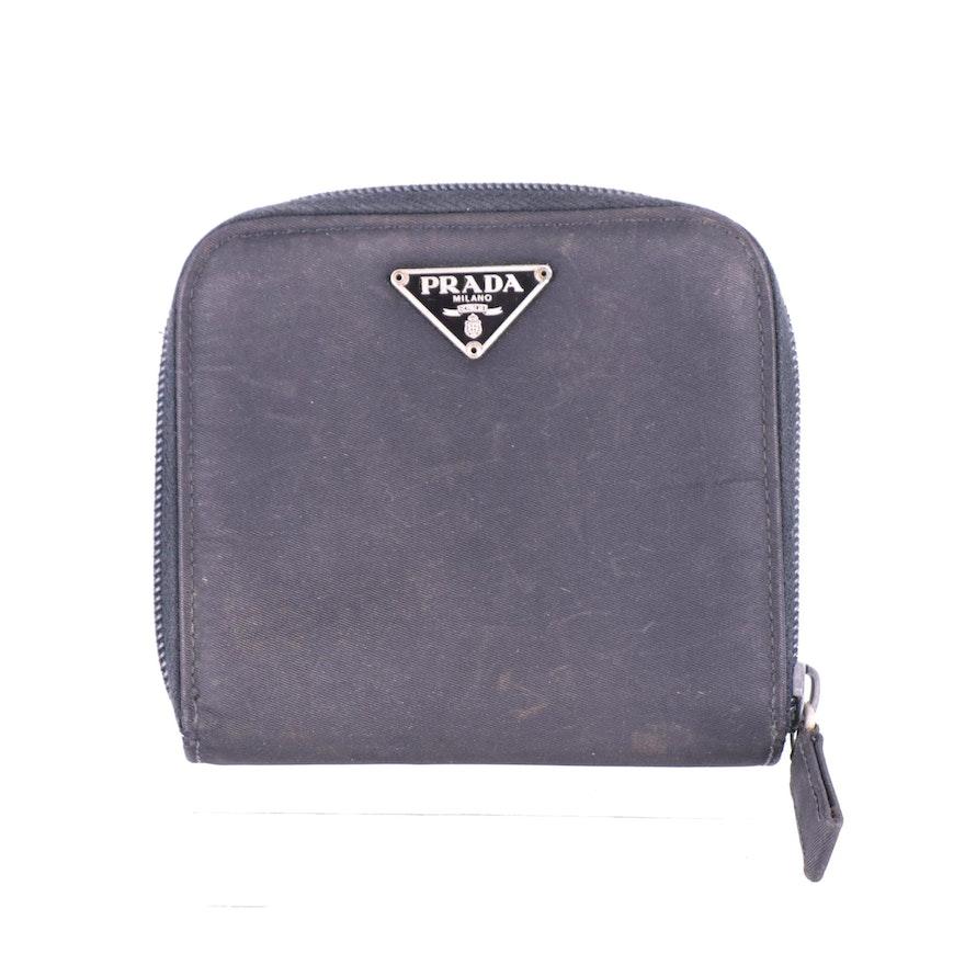 Prada Black Nylon Tessuto Wallet
