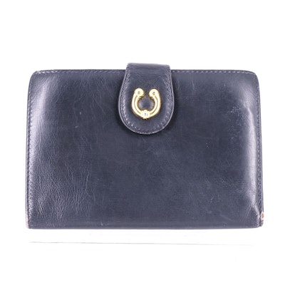 Gucci Compact Passport Wallet in Black Leather