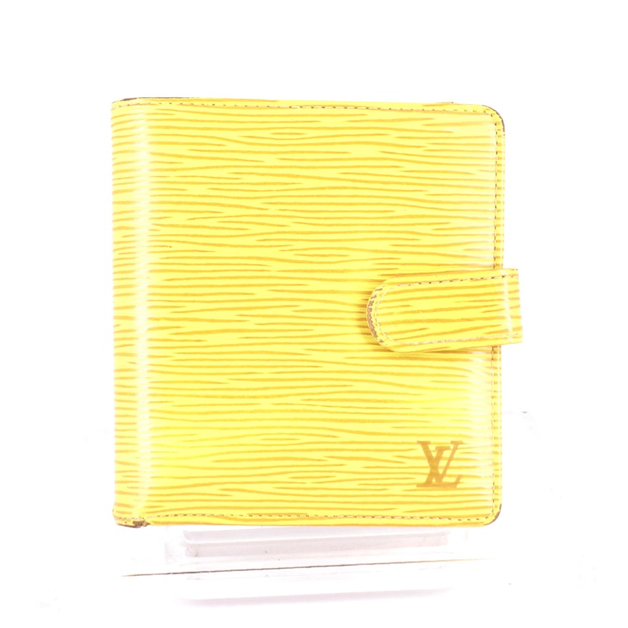 Louis Vuitton Porte Billets Bifold Wallet in Tassil Yellow Epi Leather