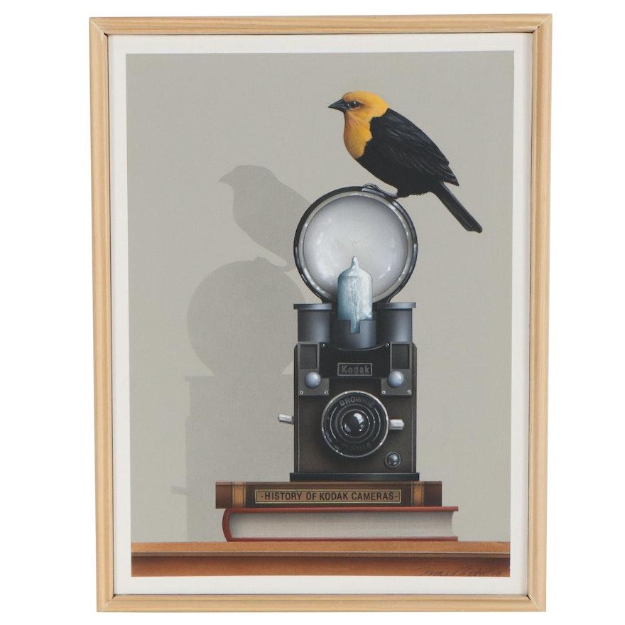 "James Carter Acrylic Painting ""Flash,"" 2019"