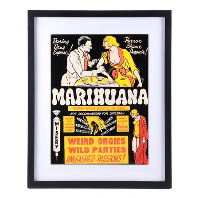"Propaganda Style Offset Lithograph Poster ""Marihuana,"" 21st Century"