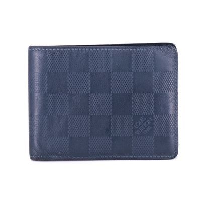 Louis Vuitton Multiple Bifold Wallet in Damier Infini Cosmos Leather