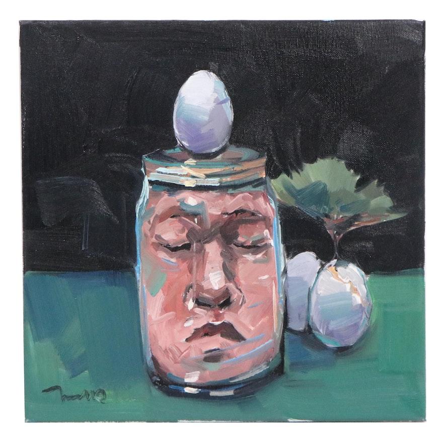 "Jose Trujillo Oil Painting ""Alternative Reality,"" 2021"