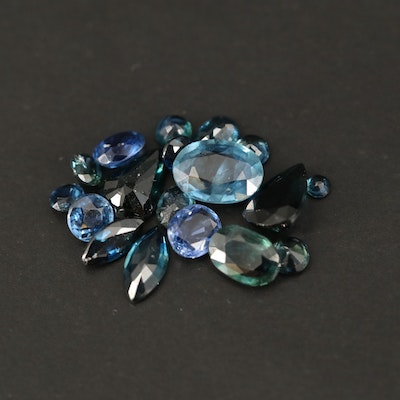 Loose 5.92 CTW Mixed Faceted Sapphires