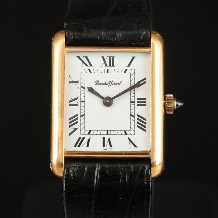 Vintage Bueche - Girod 18K Yellow Gold Stem Wind Wristwatch