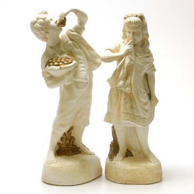 Partial Gilt Plaster Statuettes, Mid to Late 20th Century