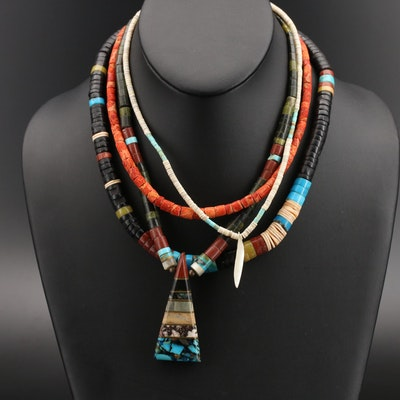 Turquoise, Coral and Gemstone Necklaces with Heshi and Sterling