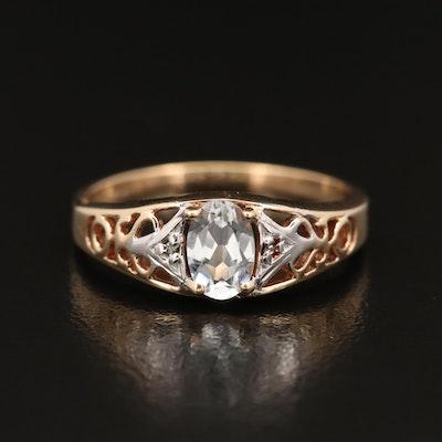 10K Topaz Openwork Ring
