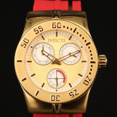 "Invicta ""Wildflower"" Gold Tone Quartz Wristwatch"