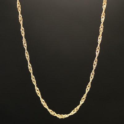 18K Italian Gold Singapore Chain Necklace
