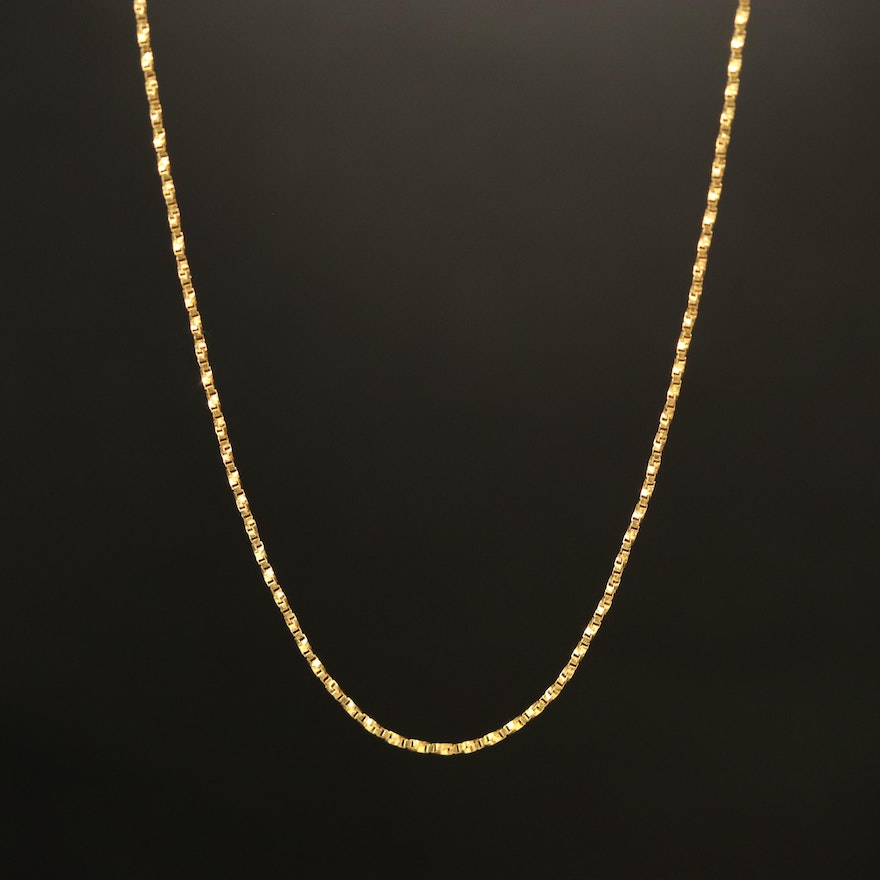 14K Twisted Box Chain Necklace